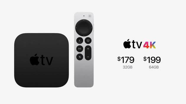 苹果推出AppleTV4K搭载A12芯片售价179美元起